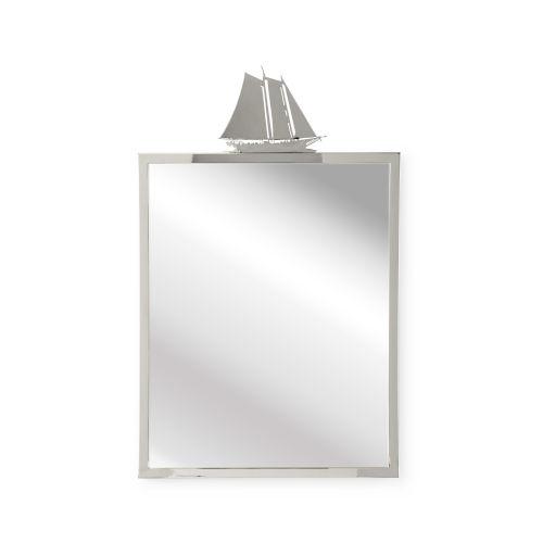 Nickel 24-Inch Wall Mirror