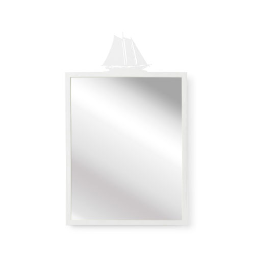 White High Tide Wall Mirror