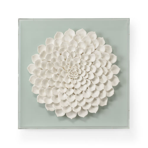 White Succulent Large Wall Sculpture