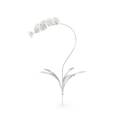 Silver Orchid Stem Home Decor