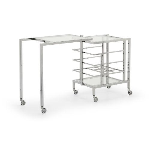 Rankin Polished Nickel Bar Cart