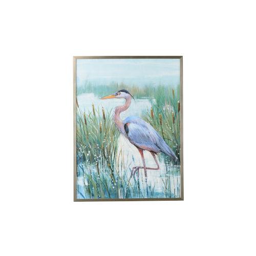 Silver Marsh Heron II Wall Art