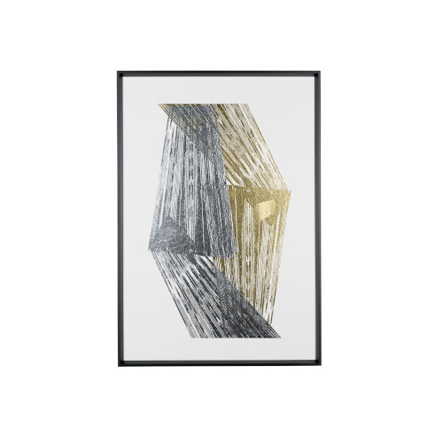 Silver and Gold Foil Stripes Wall Art