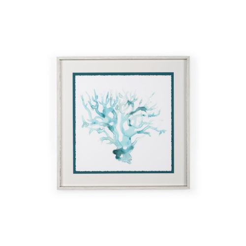 White Ocean Cameo I Wall Art