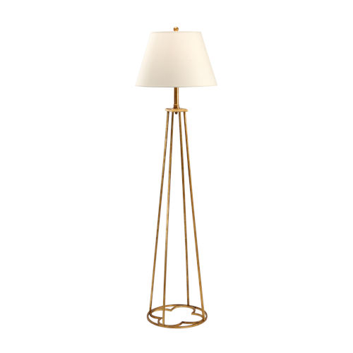 Gold One-Light Floor Lamp