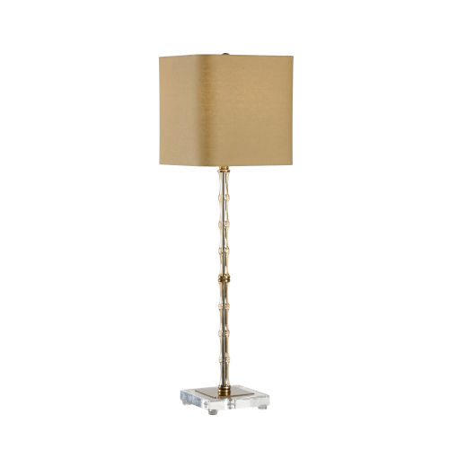 Phillips Antique Brass One-Light Bamboo Table Lamp
