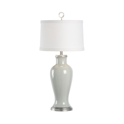 Gray and Silver One-Light Table Lamp