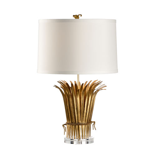 Gold One-Light Leaf Lamp Table Lamp
