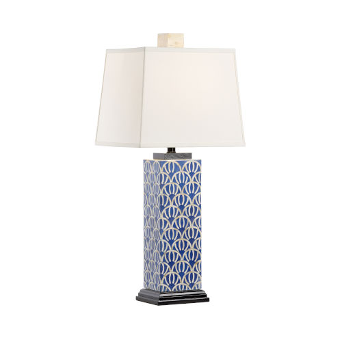 Kansas Navy and White One-Light Table Lamp