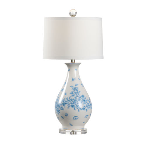 Spring Blue and White One-Light Table Lamp