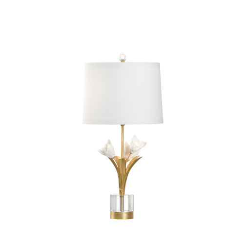 Gold One-Light Small Tulip Table Lamp