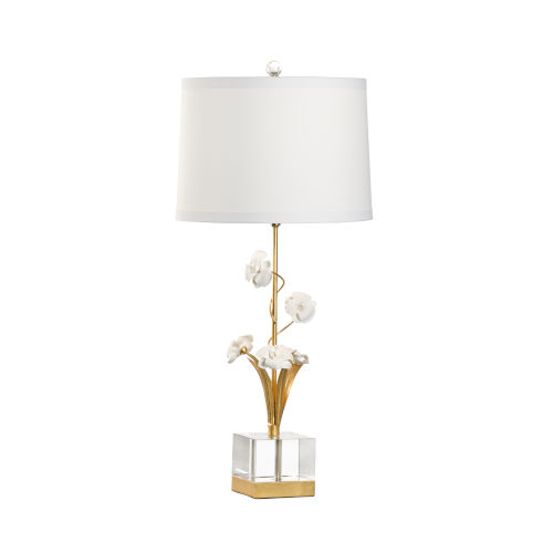 Gold One-Light Large Orchid Table Lamp