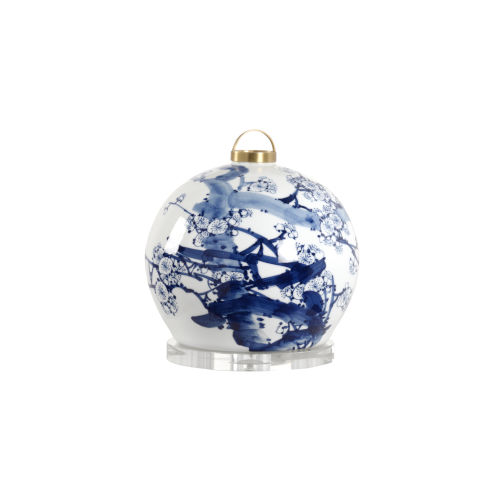 Blue and White One-Light Lantern