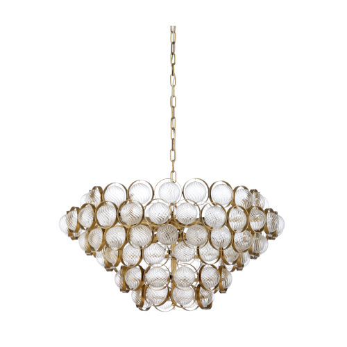 Milan Antique Brass Eight-Light Chandelier