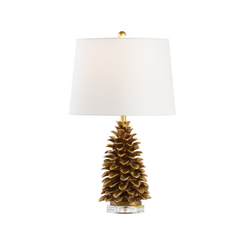Antique Gold One-Light Pinecone Table Lamp