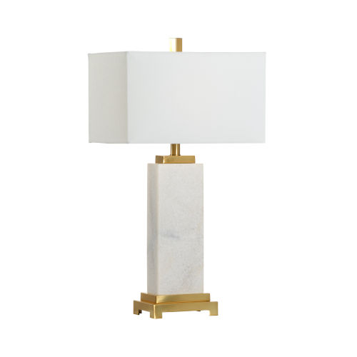 Kennedy White and Gold One-Light Table Lamp