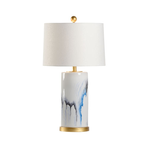 Crawford White and Gold One-Light Table Lamp