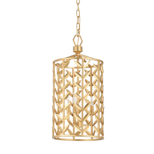 Gold Three-Light Pendant