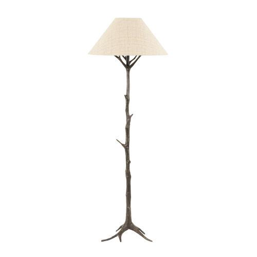 Sprigs Dark Bronze and Beige Table Lamp