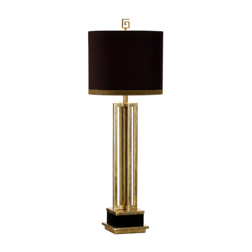 Antique Brass and Black Table Lamp