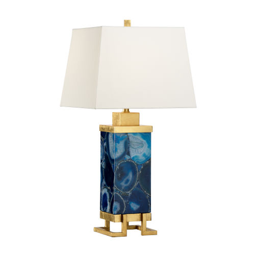 Oceans Blue and Gold Table Lamp