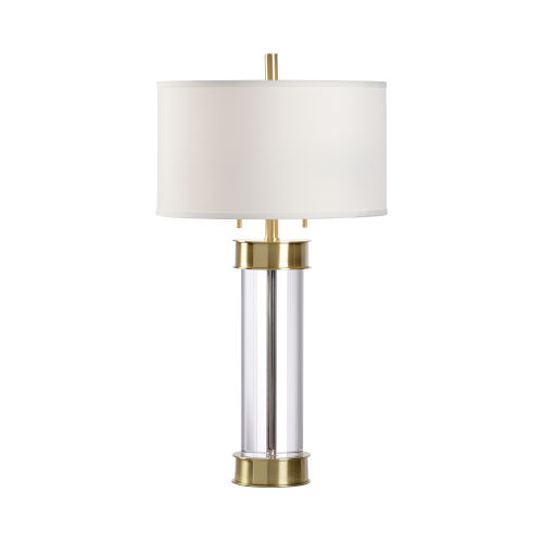 Bolton Clear and Antique Brass Table Lamp