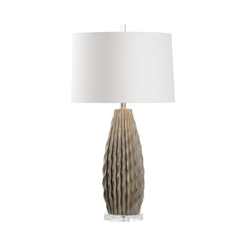 Saguaro Gray and Taupe Glaze Table Lamp