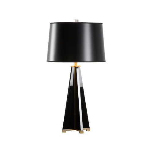 Franz Black and Antique Brass Table Lamp