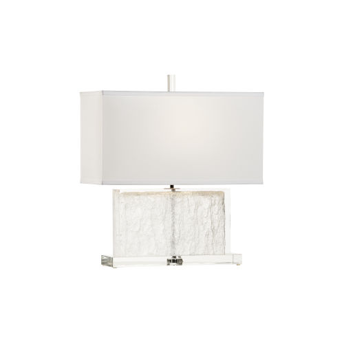 Selena Clear and Polished Nickel Table Lamp