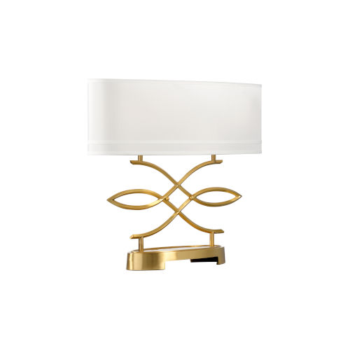 Swirl Antique Brass Table Lamp