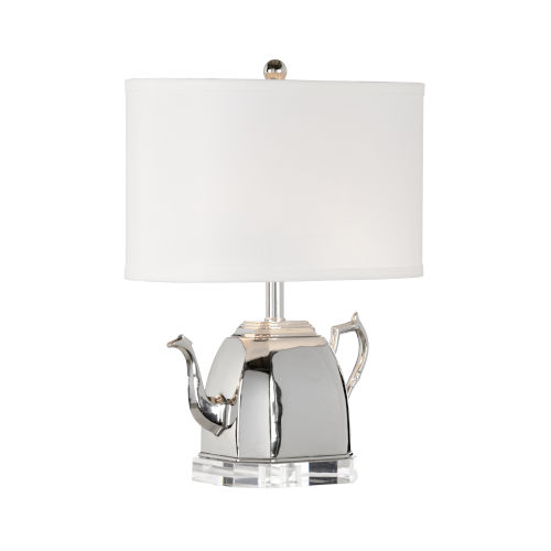 Spout Polished Nickel Table Lamp