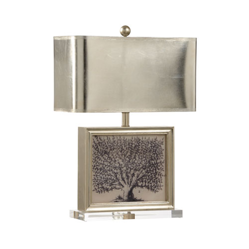 Wildwood Lamps Mt. Vernon Ambered Silver Leaf One-Light Table Lamp