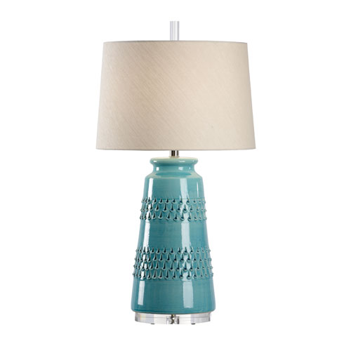 Wildwood Lamps Vietri Aqua Glaze One Light Table Lamp