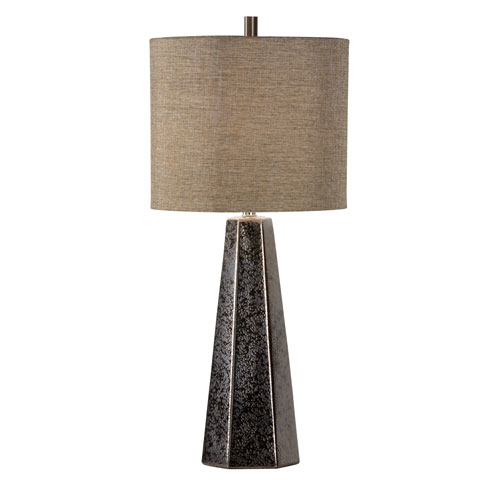 Vietri Textured Bronze Glaze One-Light Table Lamp