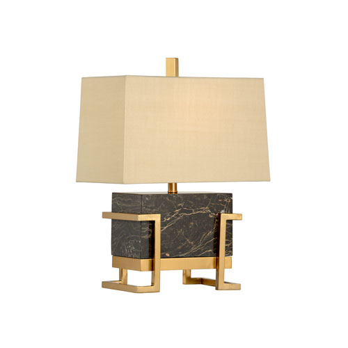 Transitional Natural Chocolate One-Light Table Lamp