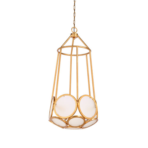 Biltmore Frosted Glass Panels Three-Light Pendant