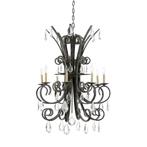 wildwood lamps biltmore antique verdi eight light chandelier 23348