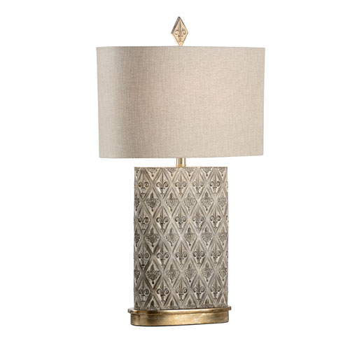 Wildwood Lamps Biltmore Whitewashed Wood One Light Table Lamp 23349