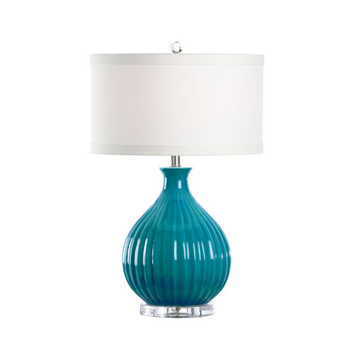 Wildwood Lamps MarketPlace Turquoise Crackle Glaze One-Light Table Lamp