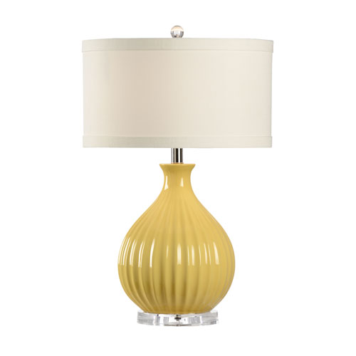 MarketPlace Sunflower Yellow Glaze One-Light Table Lamp