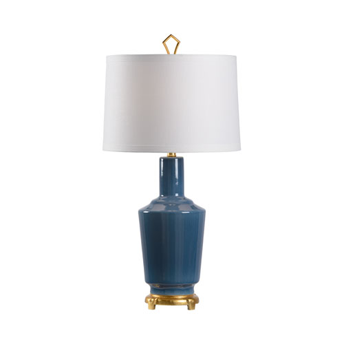 MarketPlace Turkish Blue Glaze One-Light Table Lamp