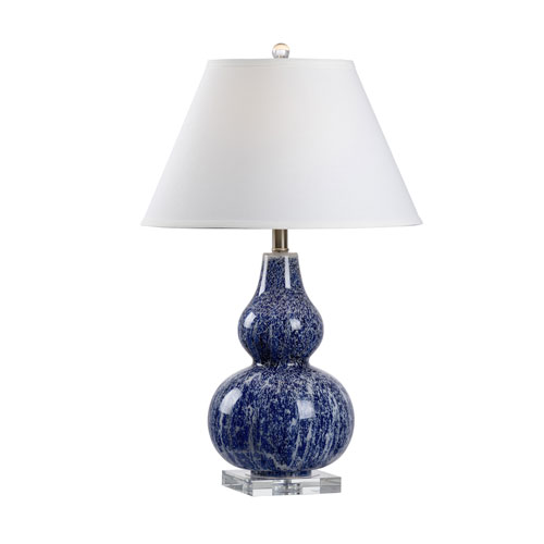 Wildwood Lamps MarketPlace Blue And White One Light Table Lamp