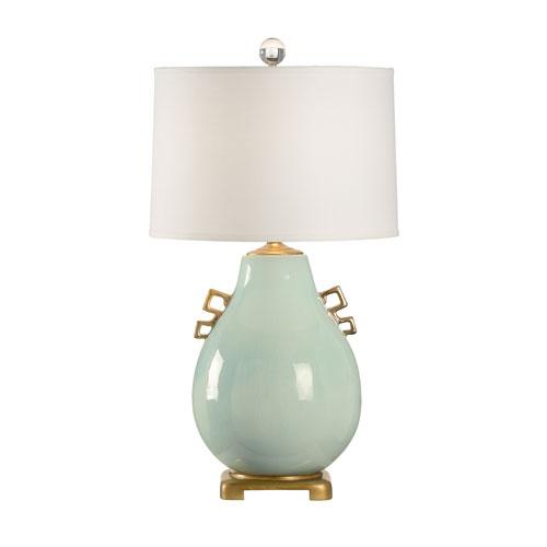 Robins Egg Crackle Glaze One-Light Table Lamp