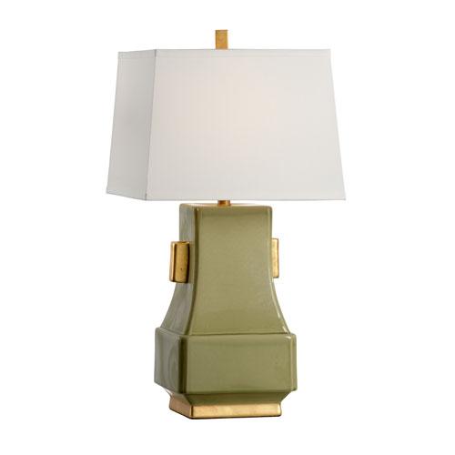 Transitional Kiwi Green Glaze One-Light Table Lamp