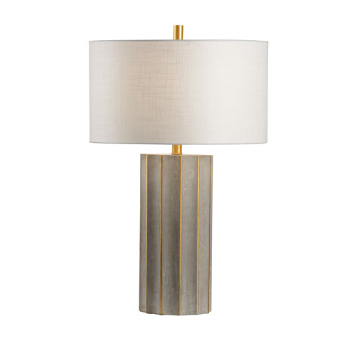 Wildwood Lamps Natural Concrete One-Light Table Lamp