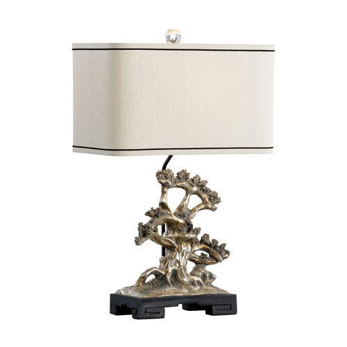Wildwood Lamps Tarnished Sterling One-Light Table Lamp