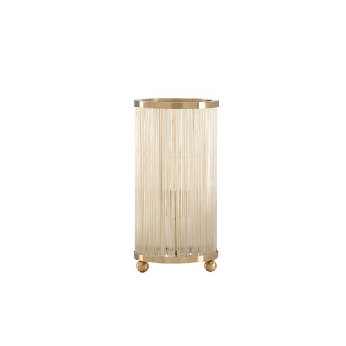 Tarnished Brass One-Light Table Lamp