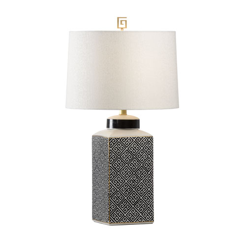 Wildwood Lamps Black and White One-Light Table Lamp