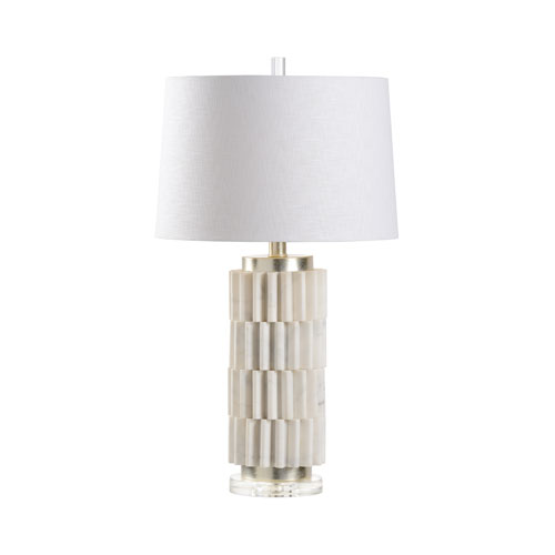 Wildwood Lamps Natural White Stone One Light Table Lamp