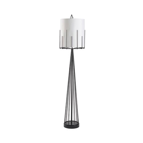 Wildwood Lamps Satin Black Four-Light Table Lamp